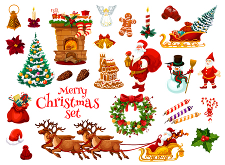 Illustration for Christmas and New Year holiday icon. - Royalty Free Image