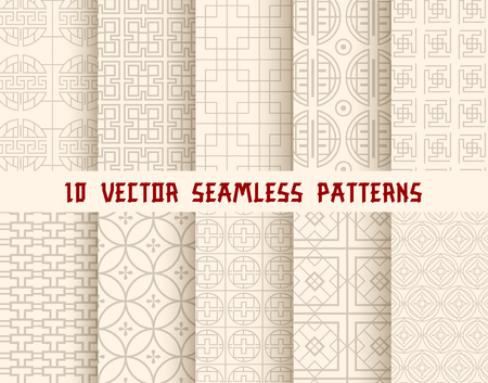Ilustración de Oriental or asian seamless pattern background - Imagen libre de derechos