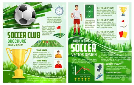 Ilustración de Vector brochure for soccer sport football game - Imagen libre de derechos