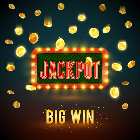Illustration for Jackpot big win casino fame vector backdrop - Royalty Free Image