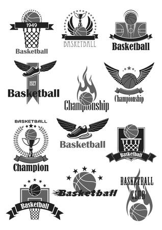 Ilustración de Basketball sport symbol for sporting club design - Imagen libre de derechos