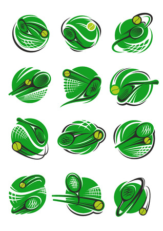 Ilustración de Tennis ball icon for sport club and tournament - Imagen libre de derechos