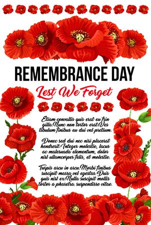 Illustration pour Banner with red poppies - image libre de droit