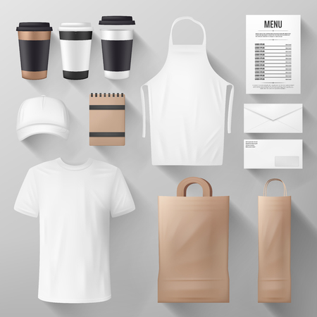 Illustration pour Restaurant and cafe corporate identity template - image libre de droit