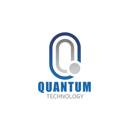 Illustration for Quantum technology Q letter icon for digital and smart electronic devices production or hi-tech physics research company. Vector isolated letter Q for innovation technology appliances development - Royalty Free Image