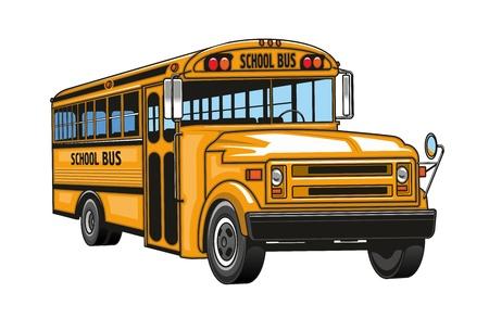 Ilustración de School bus cartoon. - Imagen libre de derechos