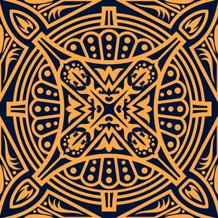 Illustration pour Arabic seamless pattern of  islamic arabesque floral ornament. - image libre de droit