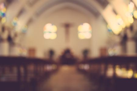Photo pour church interior blur abstract background - image libre de droit