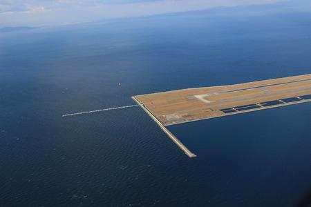 Foto de view from Window Plane in the Kansai Airport - Imagen libre de derechos