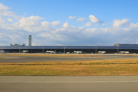Foto de the Kix Kansai Airport at the Osaka Japan  - Imagen libre de derechos