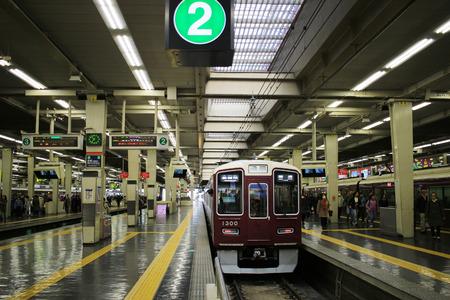 Foto per the Hankyu Umeda Station in Osaka of Japan - Immagine Royalty Free