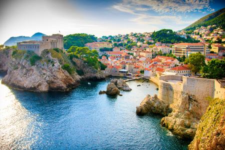 Foto de View of the Dubrovnik coast line - Imagen libre de derechos