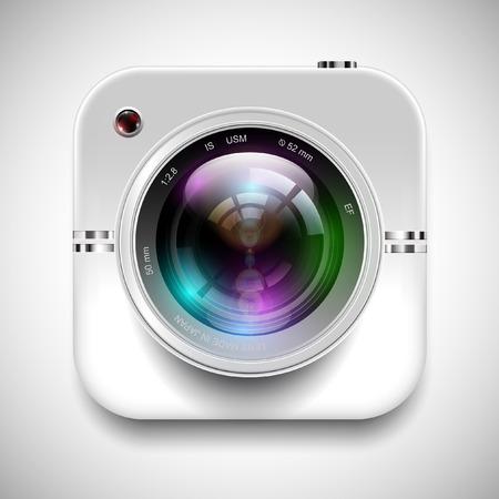 Illustration pour illustration of a camera icon - image libre de droit