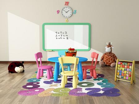 Foto de sweet interior decor render for kids room - Imagen libre de derechos