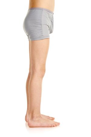 Foto de Side-view of boy in underwear - Imagen libre de derechos