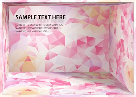 Illustration pour Cubism background White and pink depth space - image libre de droit