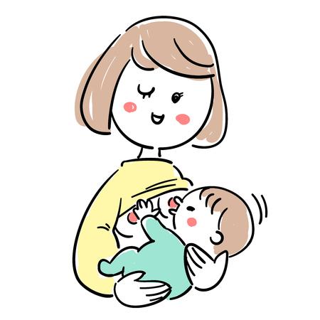 Ilustración de Baby and child care breast milk good condition - Imagen libre de derechos