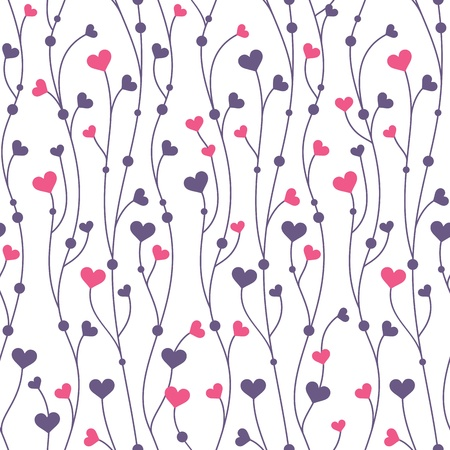 Illustration pour Abstract geometric colorful seamless pattern background with hearts - image libre de droit