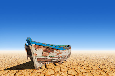 Photo for Old boat on dry land - Royalty Free Image