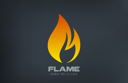 Illustration for Fire flame Logo vector icon design template  - Royalty Free Image
