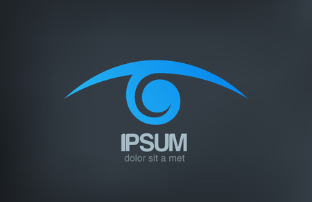 Logo Eye vision vector icon design template  Optics Oculist sign Search, Spy, Detective, Research, Ophthalmologist symbol
