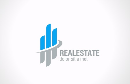 Illustration for Real Estate vector logo design  Realty abstract symbol Business Corporate sign  Financial Stock Exchange concept  - Royalty Free Image