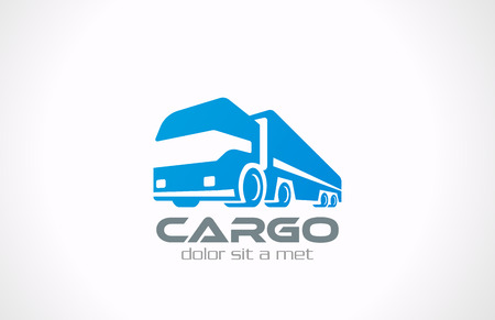Cargo Truck vector logo design  Delivery service concept icon Transportation Business