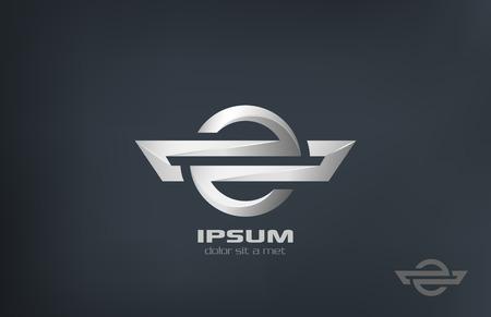 Corporate symbol metal vector logo design template  Metallic abstract luxury concept Business creative icon