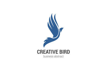 Illustration pour Flying Bird Logo abstract design vector template. Phoenix concept. Eagle Falcon Logotype silhouette. Business Financial success icon. - image libre de droit