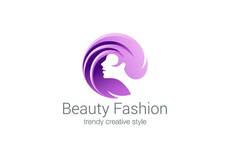 Illustration pour Beauty Fashion Spa Logo circle design vector template. Haircut salon make up logotype concept icon. - image libre de droit