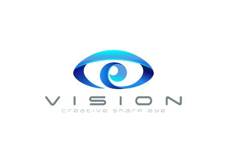 Illustration pour Eye Logo abstract design vector template. Creative vision logotype for optic, photography, video, technology, search etc. - image libre de droit