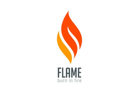 Illustration for Fire flame Logo design luxury vector template. Red Burn Fashion Jewelry Logotype icon concept. - Royalty Free Image