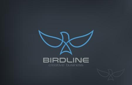 Ilustración de Abstract Flying Soaring Bird Logo design vector template. Business Corporate Luxury Success symbol Logotype icon. - Imagen libre de derechos