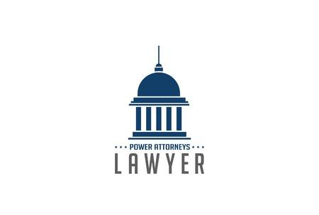 Illustration pour Lawyer Logo symbol abstract design vector template.  Legal Law Attorneys Logotype concept icon. Education symbol. - image libre de droit