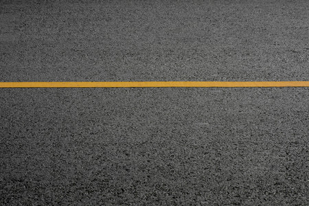 Photo for yellow line on asphalt road - Royalty Free Image