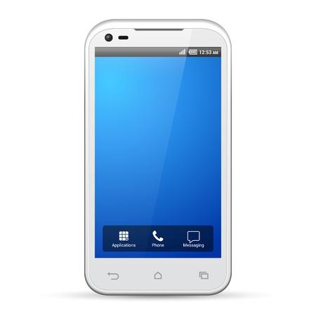 Illustration pour White Smartphone Template Display Screen Resolution 480x800   - image libre de droit