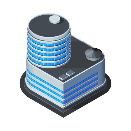 Foto de Business Center Building, Office, For Real Estate Brochures Or Web Icon  Isometric Vector EPS10  - Imagen libre de derechos