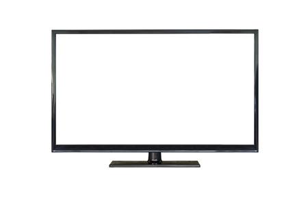 Foto de Front shot of plasma tv screen isolated on white background - Imagen libre de derechos