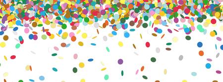 Foto de Confetti Rain - Colorful Panorama Background Template - Falling Chads Banner Backdrop - Vector Illustration - Imagen libre de derechos