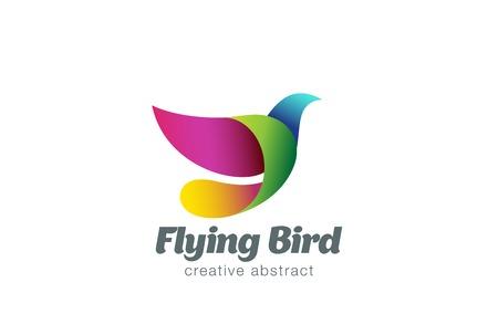 Illustration pour Flying Bird Abstract Logo design vector template. Colorful Dove creative Logotype icon. - image libre de droit