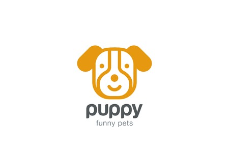 Funny Dog Logo design vector template. Doggy Puppy head icon.
