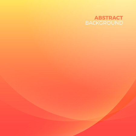 Illustration for Orange stylish abstract vector background with empty copyspace to enter your text. Curvaceous lines with blur gradient effect. - Royalty Free Image