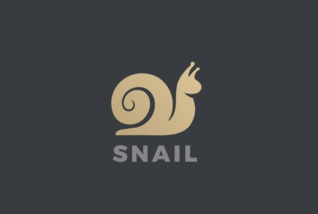 Illustration for Snail silhouette abstract design template - Royalty Free Image