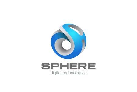 Ilustración de Sci-fi Network Sphere abstract design template. - Imagen libre de derechos