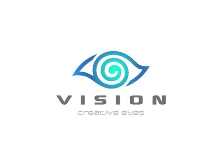 Illustration pour Eye Vision design template in linear style. - image libre de droit