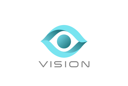 Illustration pour Eye Logo abstract design vector template. Vision SPY Search Logotype concept icon - image libre de droit