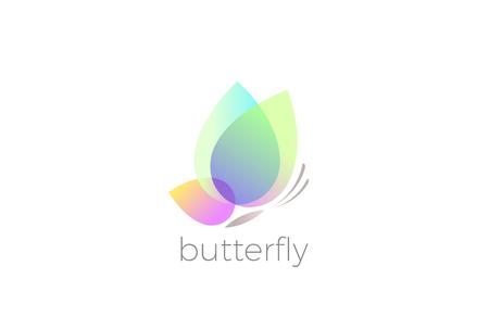 Illustration pour Butterfly Logo design vector template - image libre de droit