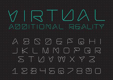Ilustración de Futuristic vector Font design - Imagen libre de derechos