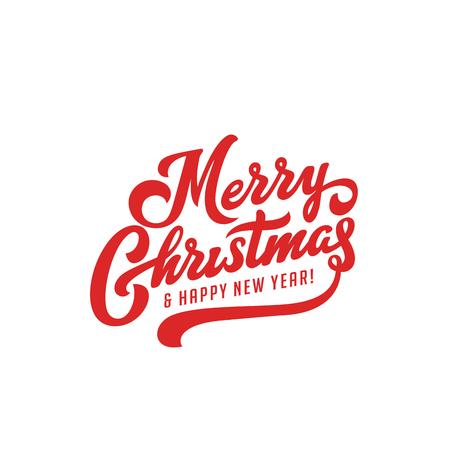 Ilustración de Merry Christmas vector text Calligraphic Lettering design card template. Creative typography for Holiday Greeting Gift Poster. Calligraphy Font style Banner - Imagen libre de derechos