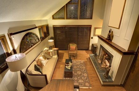 Interior of a residential living room